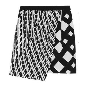 Peter Pilotto Wrap-effect Printed Skirt